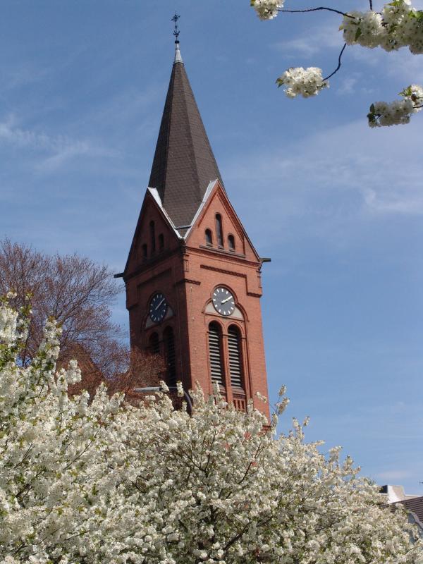 Johanneskirche_Kirchturm im Frühling_Pistorius.JPG